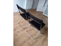 Pair of folding chairs, excellent condition