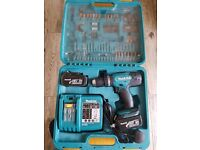 Makita Combi Drill 18V with Drill Bits