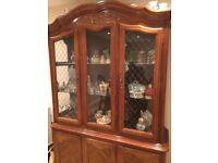 Stunning Walnut Display Cabinet and Sideboard