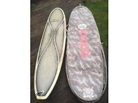 8ft Minimal Surf Board & Carry Case