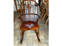 Fiddle-back rocking chair