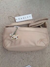 Radley Small Leather Taupe Shoulder Bag