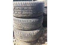 195/50/r15 multi fit 4 stud alloy wheels and tyres