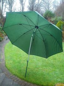 Fishing umbrella and post, with swivel.