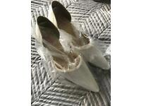 Ladies bride ivory shoes brand new