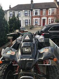 honda trx 250 quad bike with trailer