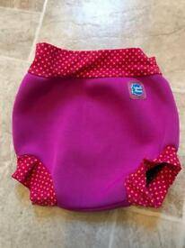 Splash about Medium Pink swim nappy and Mothercare 3-6 months wrap swim suit