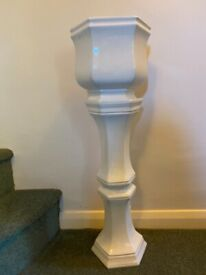 Jardiniere Plant Pot and Stand Flower arranging pedestal Wedding Events White China