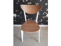 2 Dining Table Chairs NORDMYRA IKEA Oak/white