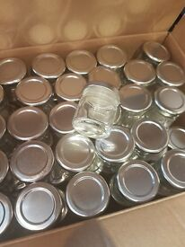 59 small jars - wedding favours / table decorations