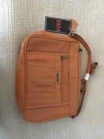 Tan leather bag - new