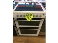 STOVES 60CM CEROMIC TOP ELECTRIC COOKER IN WHITE