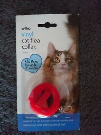 4 x wilkinson cat flea collars waterproof unused red