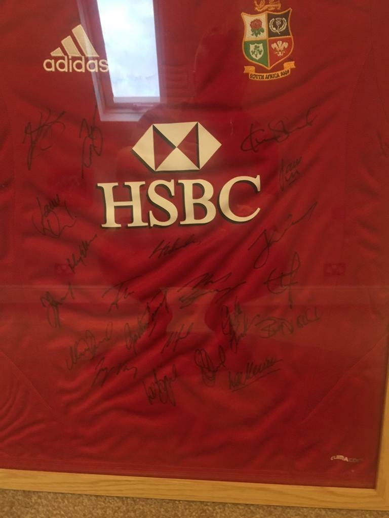 lions shirtin Waterlooville, HampshireGumtree - team signed 2009 south africa lions tour shirt with certificate of authenticity framed