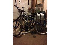 Men's Apollo silver/grey 17inch mountain bike for sale. Inc gel seat & front break discs