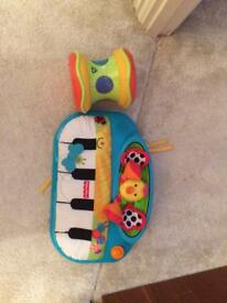 Fisher Price Hello Baby Piano and ELC drum