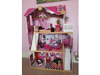 Amelia dolls house with furniture. Excellent condition. £40