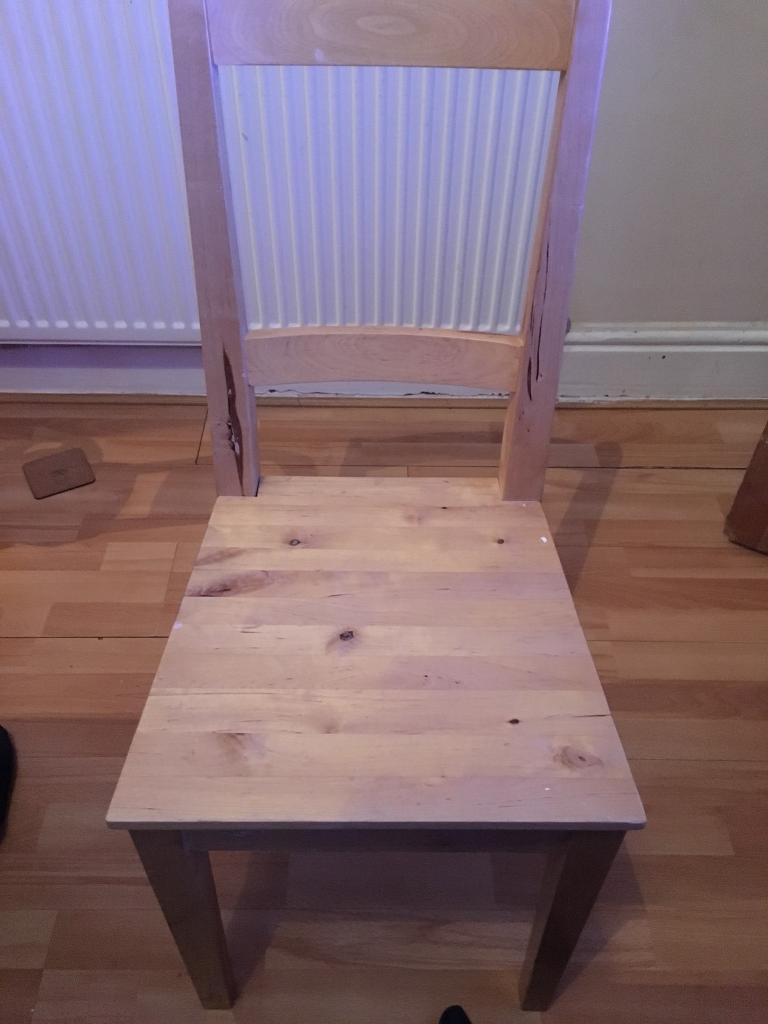 Ikea BERTIL chair set x 4 solid birch   in Stockport, Manchester   Gumtree
