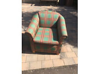 Tub Chair , in good condition . £50 each 2 available matching chairs Free Local Delivery