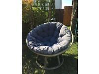 Bamboo frame chair and cushion