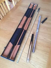 Snooker Cue, case and extension - VGC