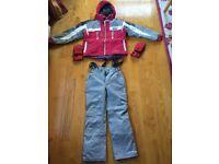 Children's ski jacket, salopettes & gloves