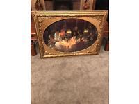Gold framed picture