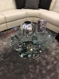 Designer Sofas glass coffee table