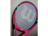 WILSON BURN JUNIOR TENNIS RACKET PINK - JR