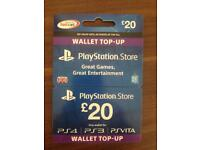 PlayStation store wallet top up card