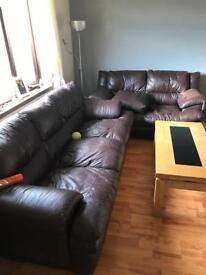 Sofas free brown leather used