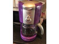 Purple filter coffee machine