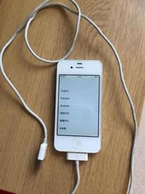 I phone 4 with charger