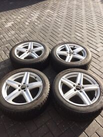 "Winter tyres and alloys 18"" fit Mercedes (255/45R18)"