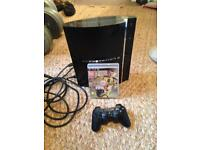 Sony PS3 with FIFA17 and controller