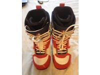 Vans Andreas Wig snowboard boots size 12uk