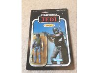 Vintage Original Kenner Star Wars Return Of The Jedi 77 Back Boba Fett MOC