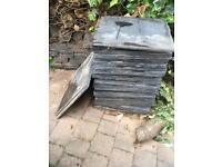 Reclaimed slate tiles