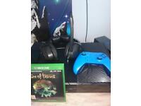 Xbox one with games and controller and 2 rocking horses