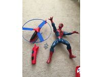 Spider man web blaster and helicopter