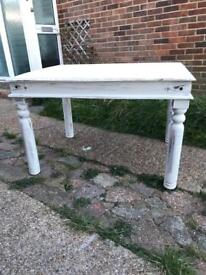 French style shabby chic dining table 118 x 91cm