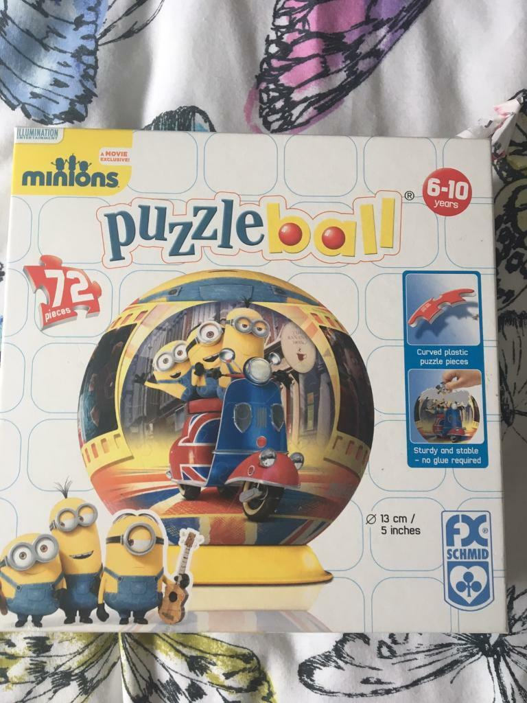 Minions puzzle ball