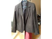 Ladies office wear - Suits ( jackets and matching fabric trousers ) Size 10-12