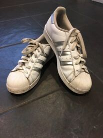 Adidas Superstar trainers - size 6 - good condition
