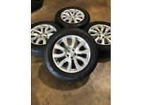 """Set of 18"""" genuine Land Rover alloy wheels and tyres Freelander 2 discovery sport evoque"""