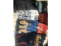 Men's T-Shirts x 8 - Superdry, Billabong, Jack & Jones, Pretty Green, EDC. Good Condition.