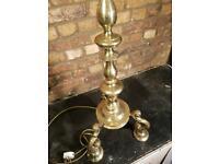 Antique Heavy Brass Standard Lamp