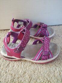 Little girls Clarks sandals ,uk size 10