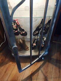 Unique and feminine shoe cabinet