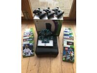 Xbox 360 kinect console 4GB, with games (inc Fifa 18) & 3 wireless controllers